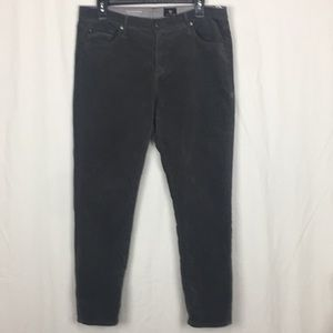 "AG ""The Stevie Ankle"" gray corduroy jeans--33"